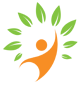 The KHCAS logo, consisting of an orange stick figure in the middle of a circle of leaves, linking to the KHCAS website.