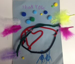 A drawing given to the donors of the KHCF by a child in the care of the CAS