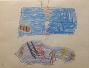 A drawing given to the KHCF by a child in the care of the CAS