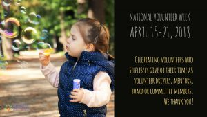 National Volunteer Week - April 15-21, 2018