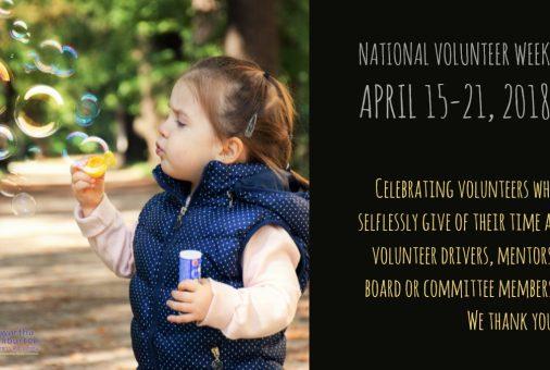 National Volunteer Week - April 15-21, 2018