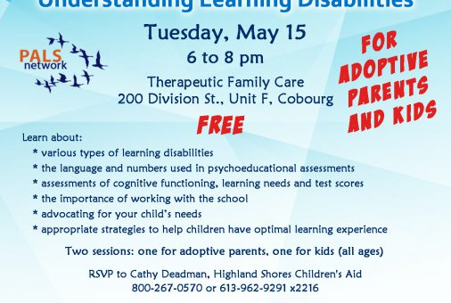 PALS Understanding Disabilities session May 15 2018