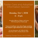 Foster Care Adoption Info Session Oct 1