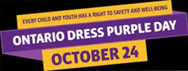 Graphic promoting Dress Purple Day on October 24 2018