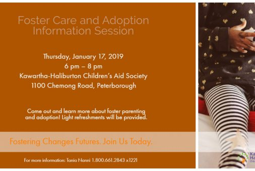 Foster Care Info Session Jan 17 2018