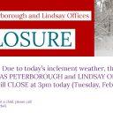 Office Closure - Tuesday, Feb 12 @ 3pm