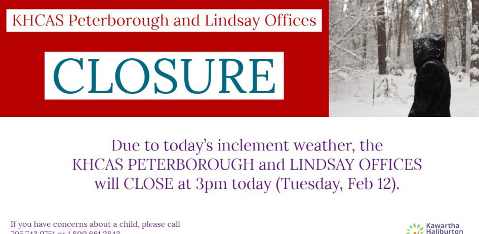 Office Closure - Tuesday, Feb 12 @ 3pm
