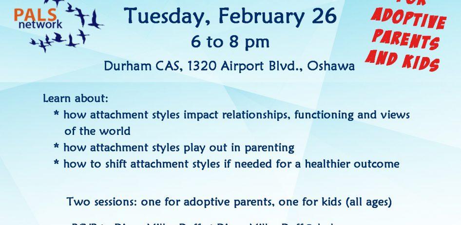 PALS: Understanding Attachment Styles Feb 26 2019