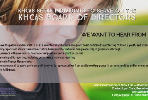 KHCAS Board Recruitment WE WANT TO HEAR FROM YOU!