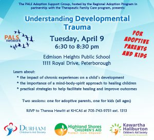 PALS Understanding Developmental Trauma Apr 9 2019