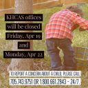 KHCAS Offices closed Apr 19 and 22