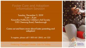 Foster Care & Adoption Info Session Dec 3 2019